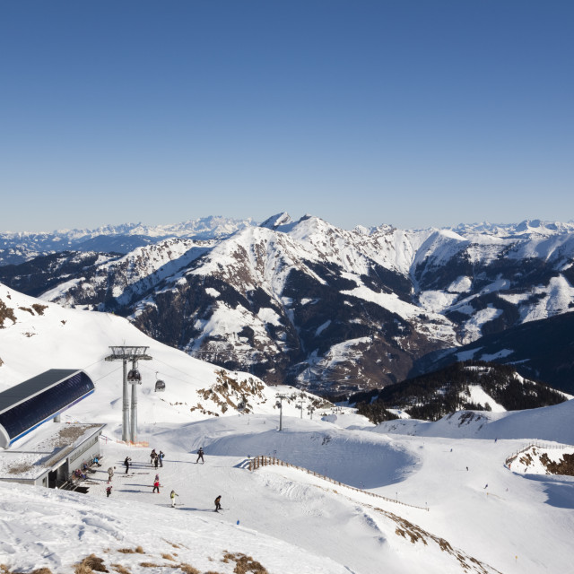 """Skiing Austria Alps"" stock image"