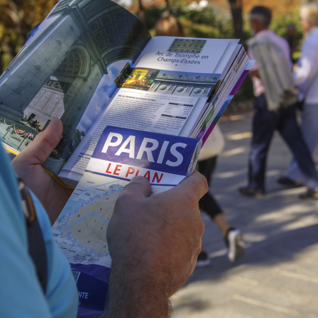 """Traveler in Paris"" stock image"