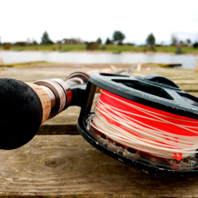 """Fly Fishing"" stock image"