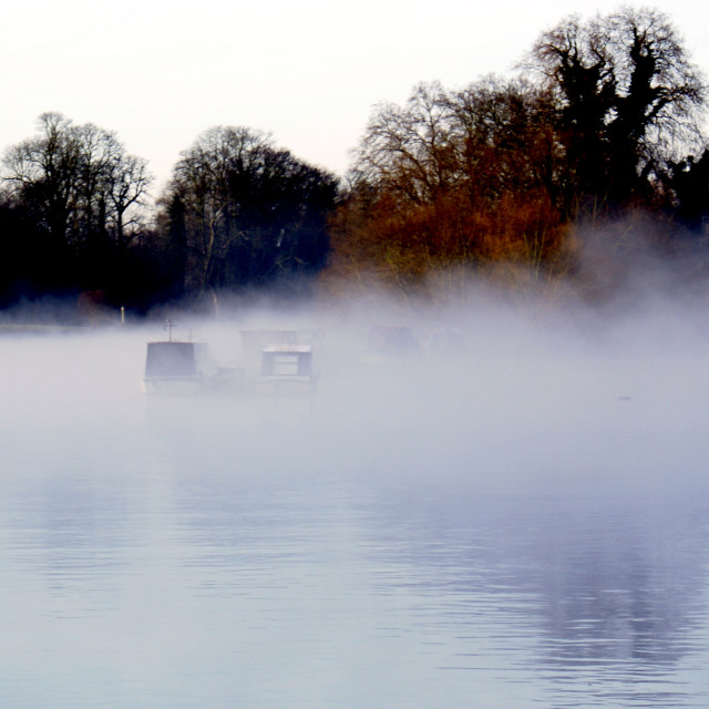 """Misty River"" stock image"