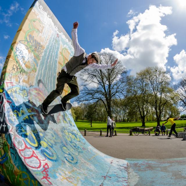 """Skateboarder."" stock image"