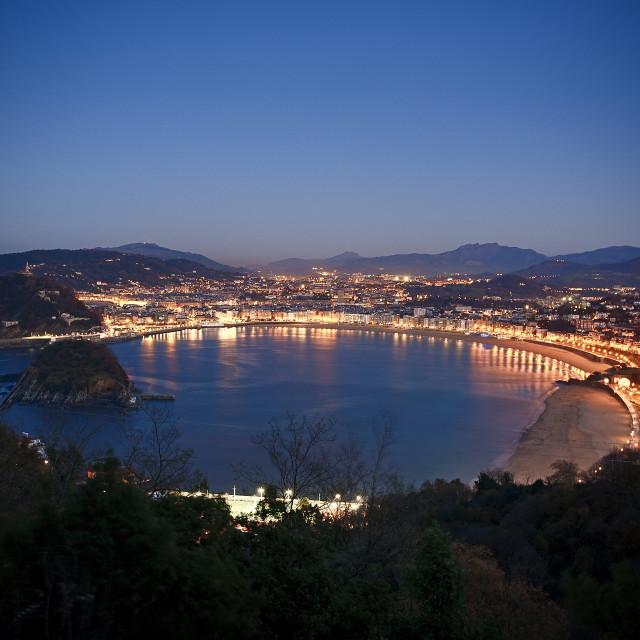 """""""Donostia - San Sebastian, view from Mount Igueldo"""" stock image"""