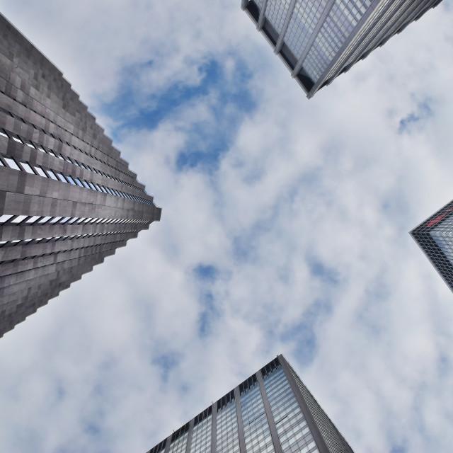 """Manhattan Skyscrapers"" stock image"