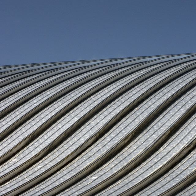 """""""METAL CURVED ROOF"""" stock image"""