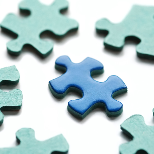 """puzzle pieces"" stock image"