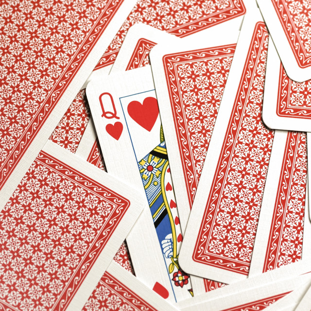 """queen of hearts"" stock image"