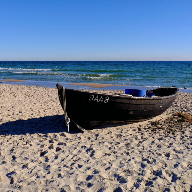"""""""A Boat on the Beach"""" stock image"""