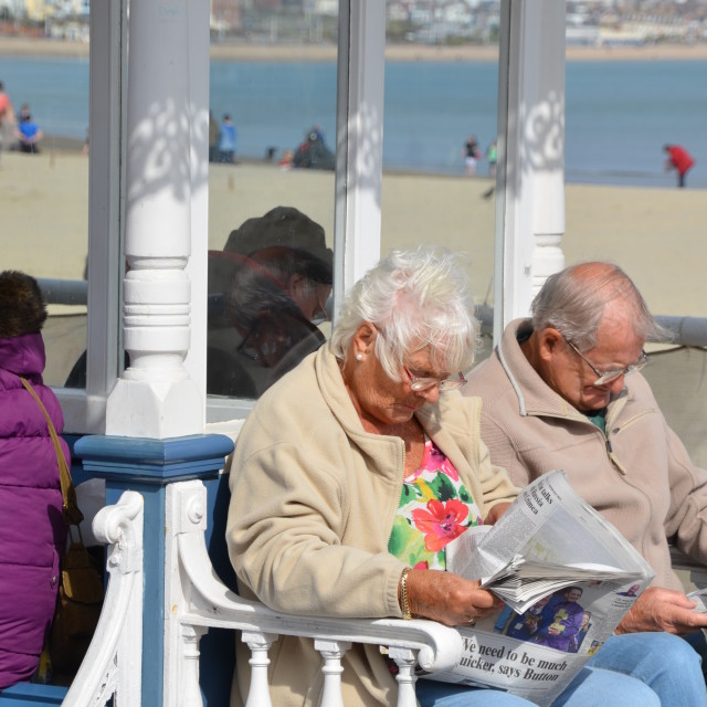 """""""At The Seaside."""" stock image"""