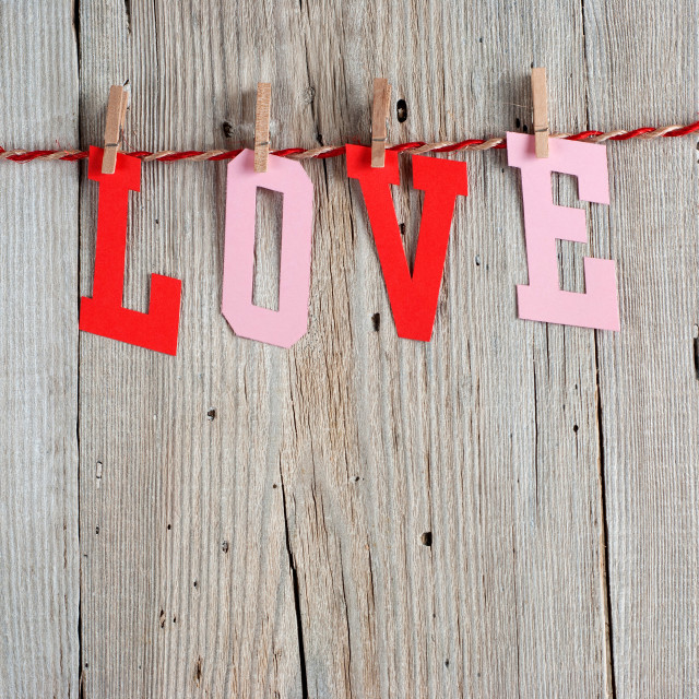 """Word LOVE"" stock image"