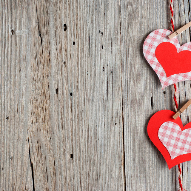 """Paper hearts"" stock image"