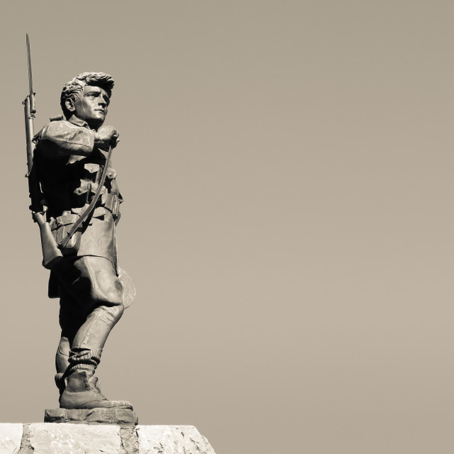 """ANZAC soldier statue"" stock image"