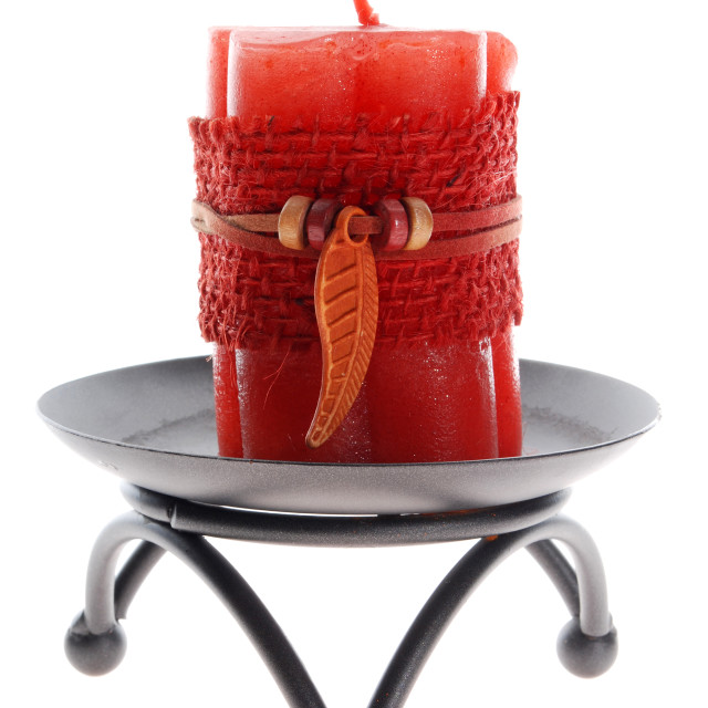 """Candlestick with a candle"" stock image"