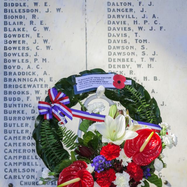 """war memorial wreath"" stock image"