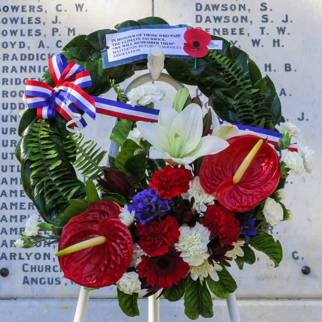 """war memorial wreath"" stock image"