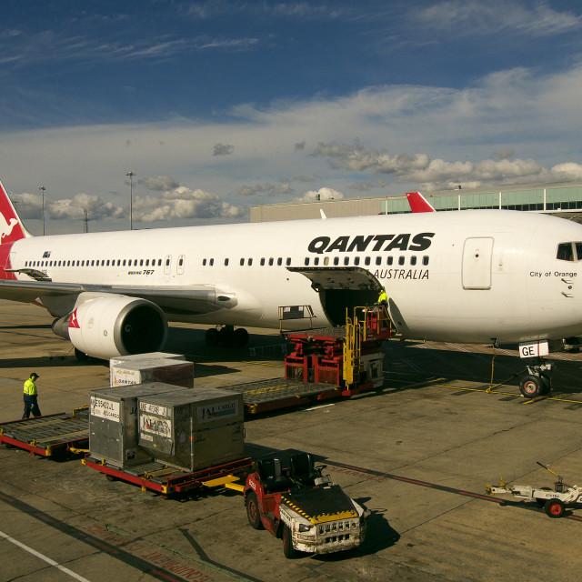 """""""767 Loading"""" stock image"""