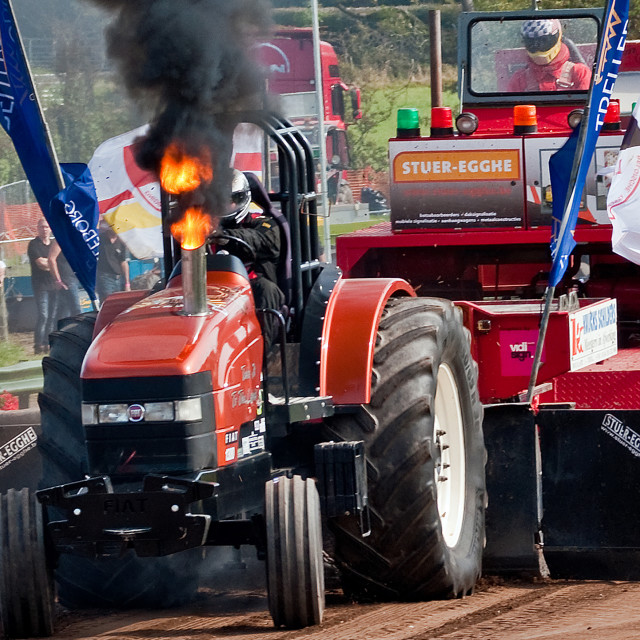"""Power Pulling Tractor"" stock image"