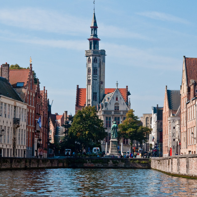"""""""Bruges View"""" stock image"""