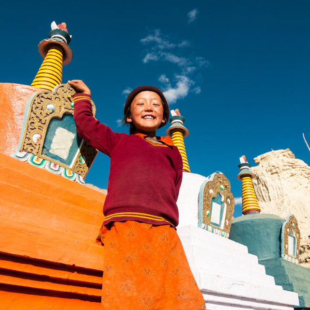 """Standing with the Stupas"" stock image"