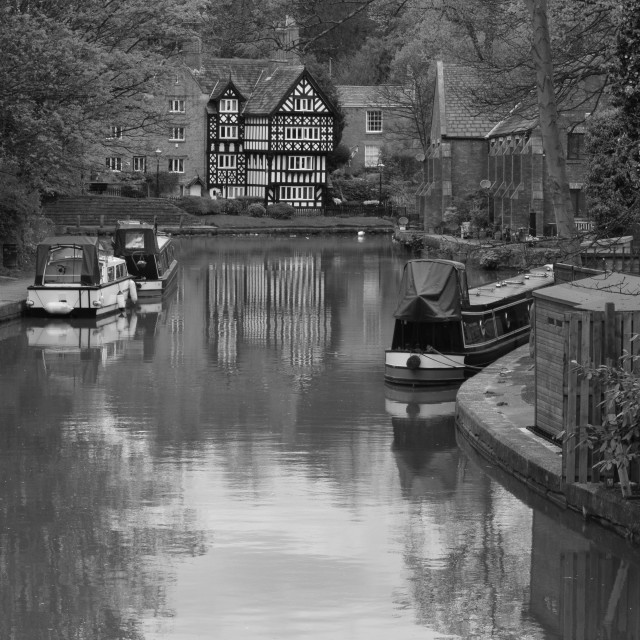 """Bridgewater Canal Worsley"" stock image"