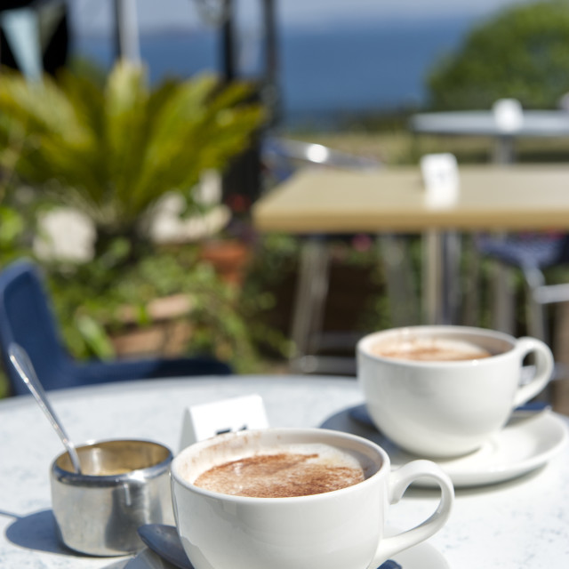 """Coffee at Babbacombe - Torquay"" stock image"