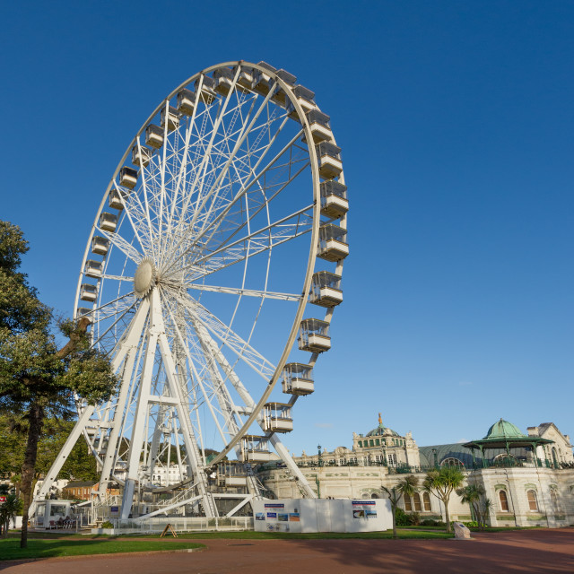 """The Riviera Wheel & Pavilion - Torquay"" stock image"