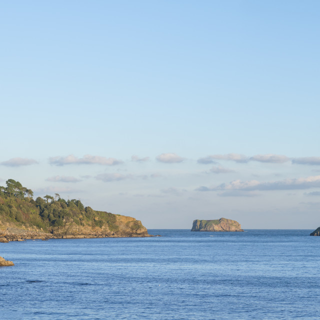 """""""View from Meadfoot Beach - Torquay"""" stock image"""
