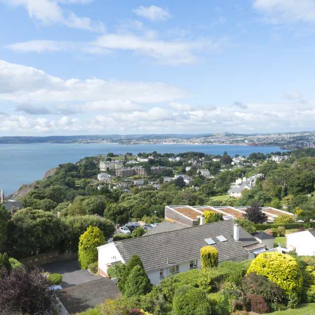 """""""Torbay View - from Lyncombe Crescent"""" stock image"""