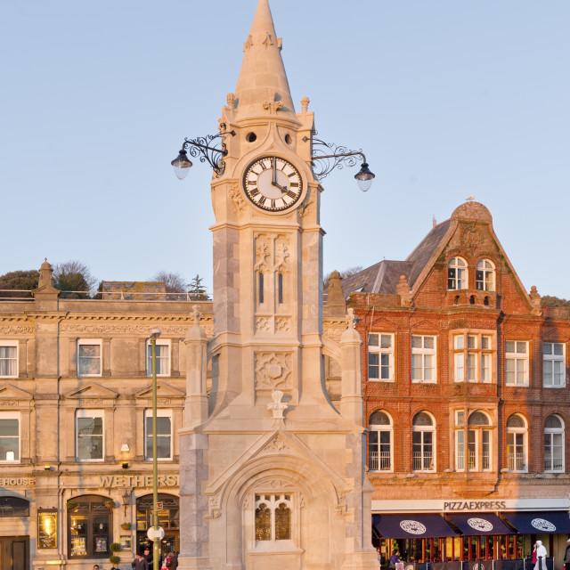 """The Clock Tower - Torquay"" stock image"