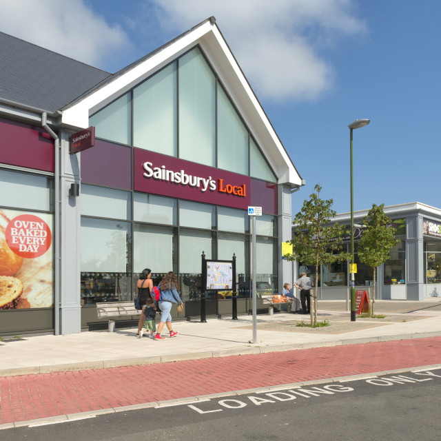 """""""New Shops - St Marychurch - Torquay"""" stock image"""