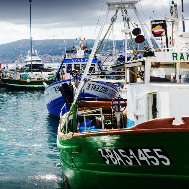 """The fishing harbour"" stock image"