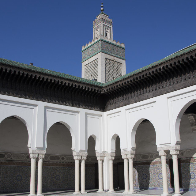 """""""Grand Mosque of Paris"""" stock image"""