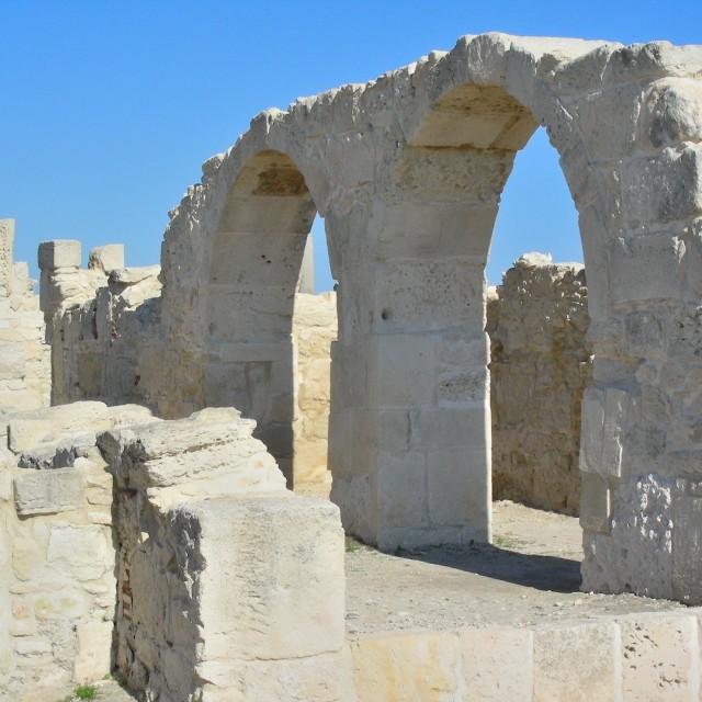 """Roman & Greek Arches, Limassol"" stock image"