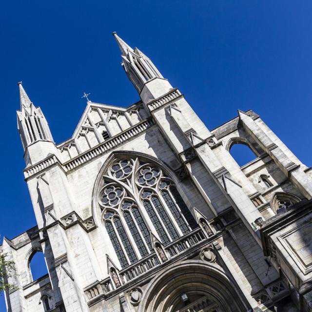 """St Pauls Cathedral, Dunedin, New Zealand"" stock image"
