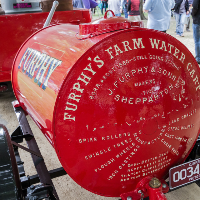 """""""A restored Furphy Water Cart"""" stock image"""