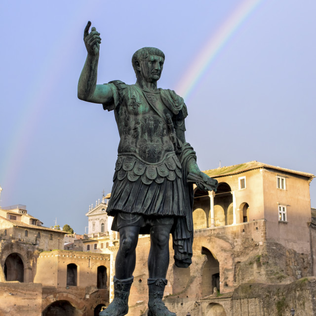 """Rainbow over the emperor"" stock image"