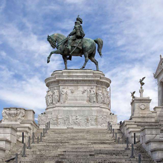 """Vittorio Emanuele II Monument"" stock image"