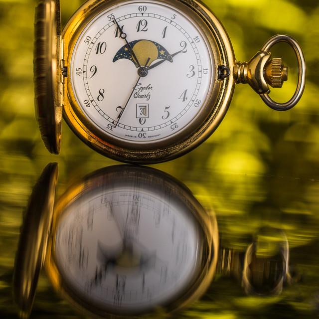 """""""Golden Pocket Watch open"""" stock image"""