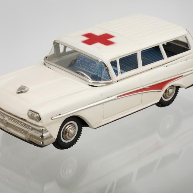 """""""Vintage Toy Ambulance"""" stock image"""