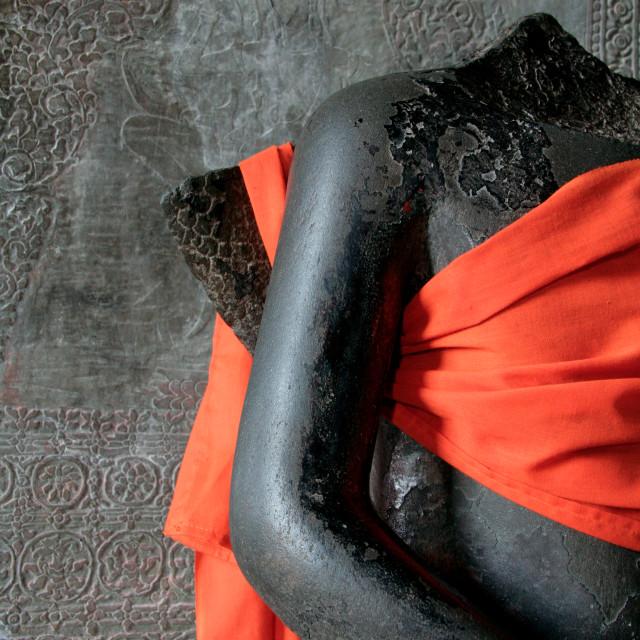 """Figure of Buddha, Angkor Wat, Cambodia"" stock image"