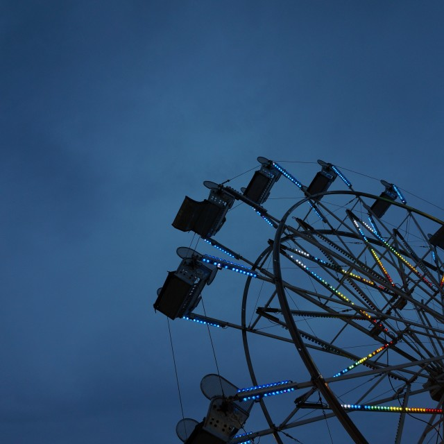 """Ferris Wheel at night"" stock image"