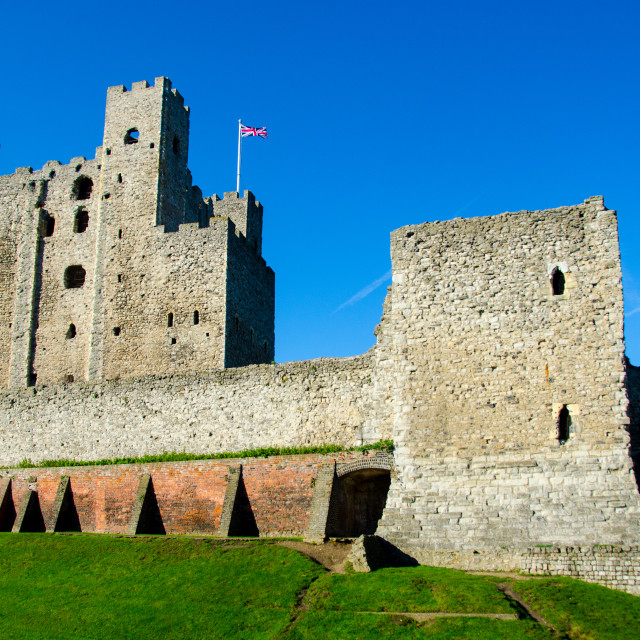 """Rochester Castle, Kent"" stock image"