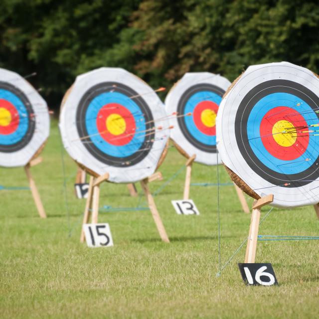 """archery targets"" stock image"