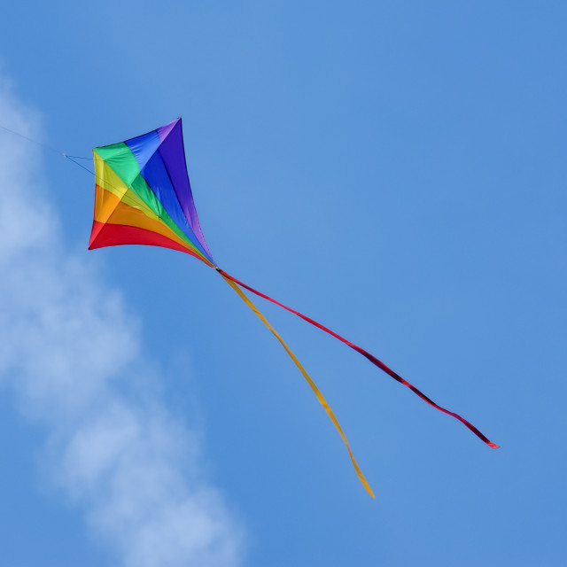 """flying a kite"" stock image"