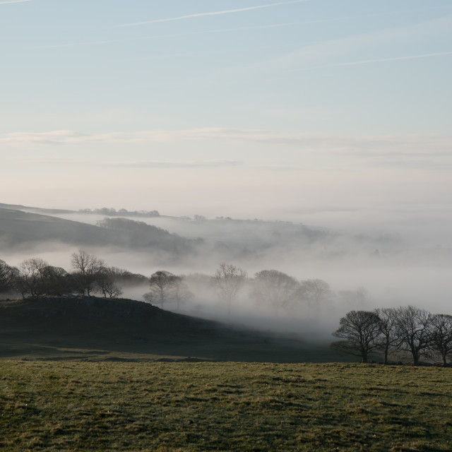 """Mist in the Dales"" stock image"