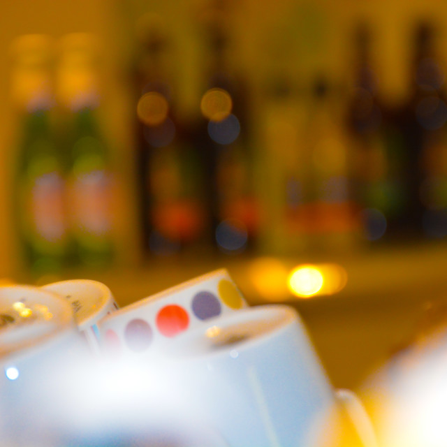 """Cups and wine"" stock image"