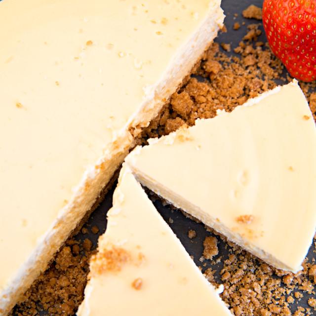 """American Cheesecake"" stock image"