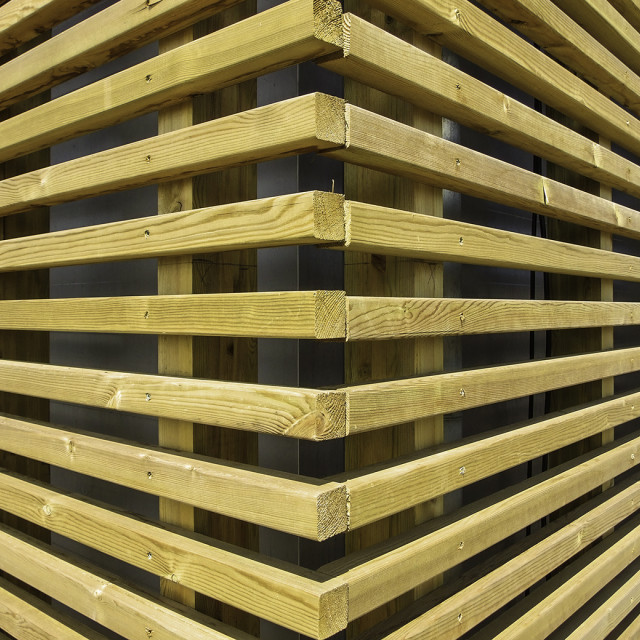 """Perspective converging timber"" stock image"
