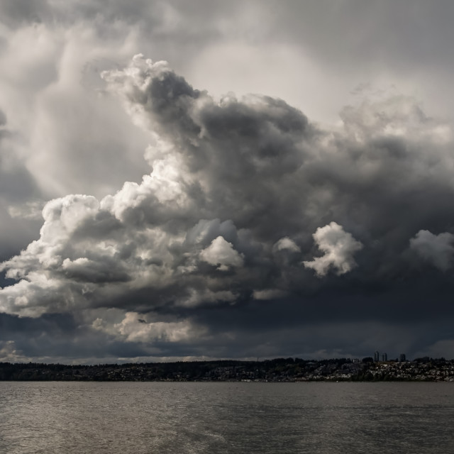"""Storm Clouds - Semiahmoo Series"" stock image"