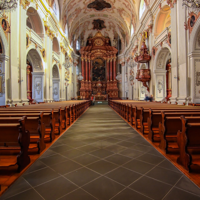 """JESUIT CHURCH"" stock image"