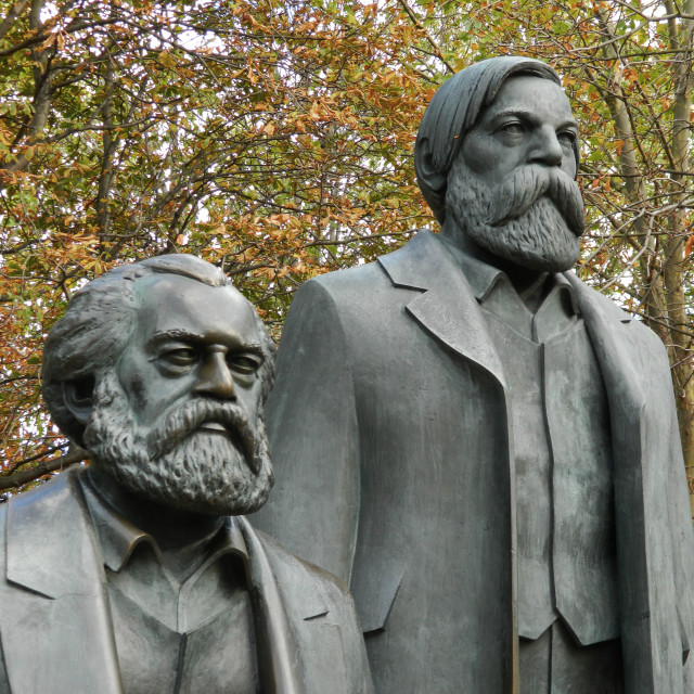 """""""Karl Marx and Friedrich Engels"""" stock image"""